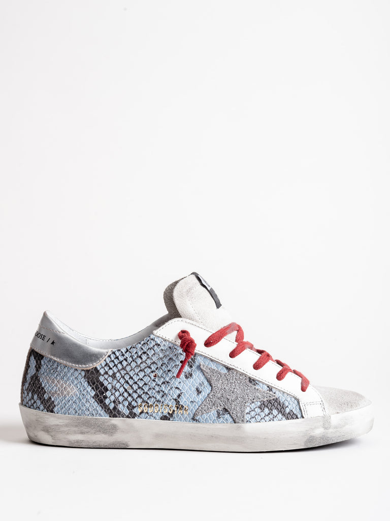 superstar sneaker - light blue python