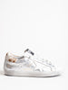 superstar sneaker - silver leather