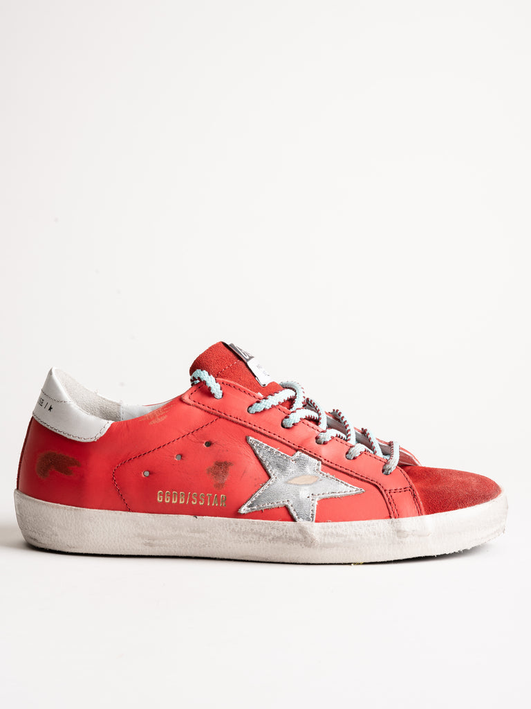 superstar sneaker - cherry leather