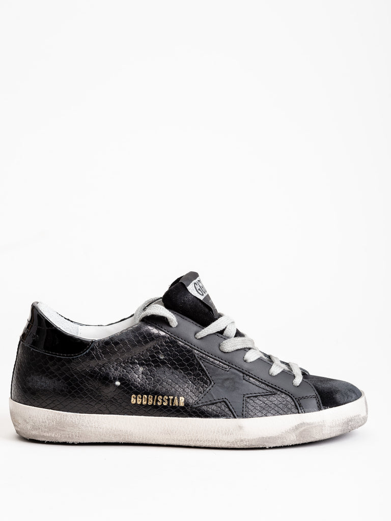 superstar sneaker - black snake