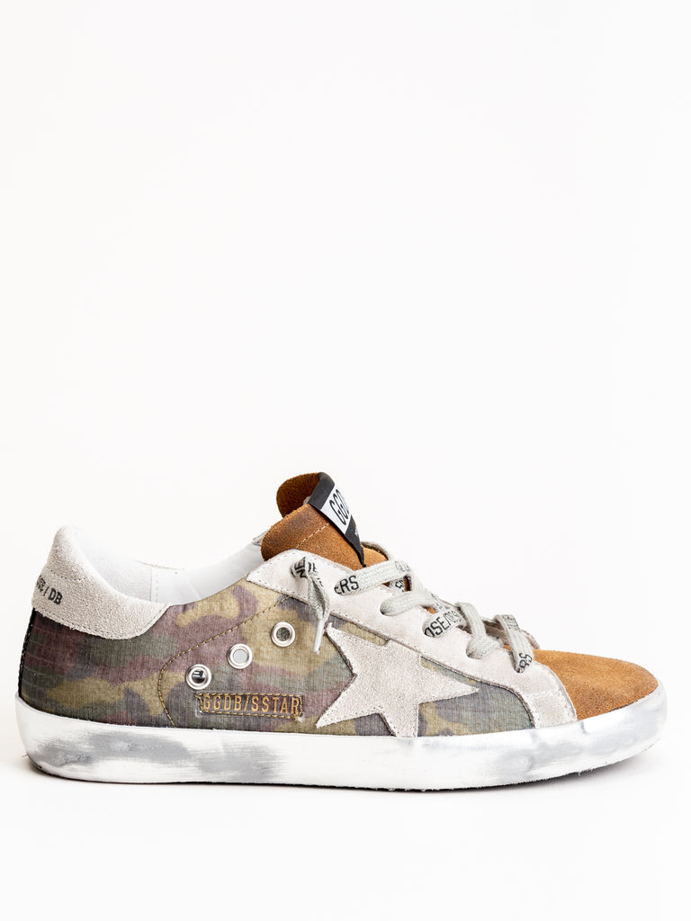 superstar sneaker - camouflage-coffee suede