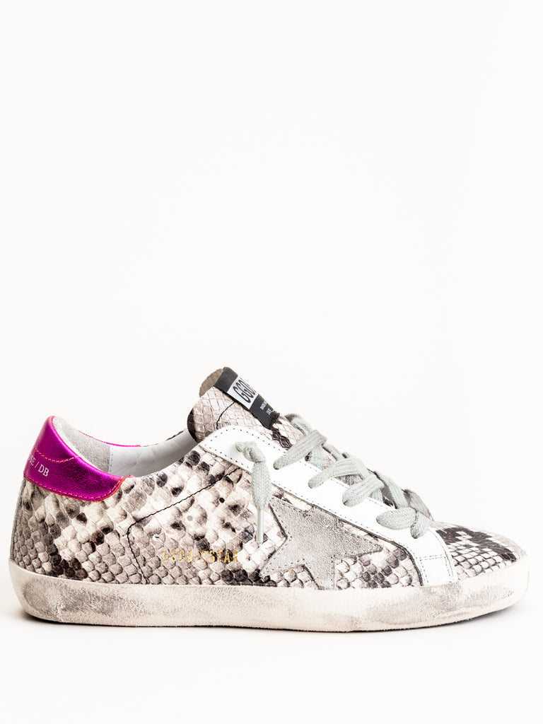 superstar sneaker - natural snake print