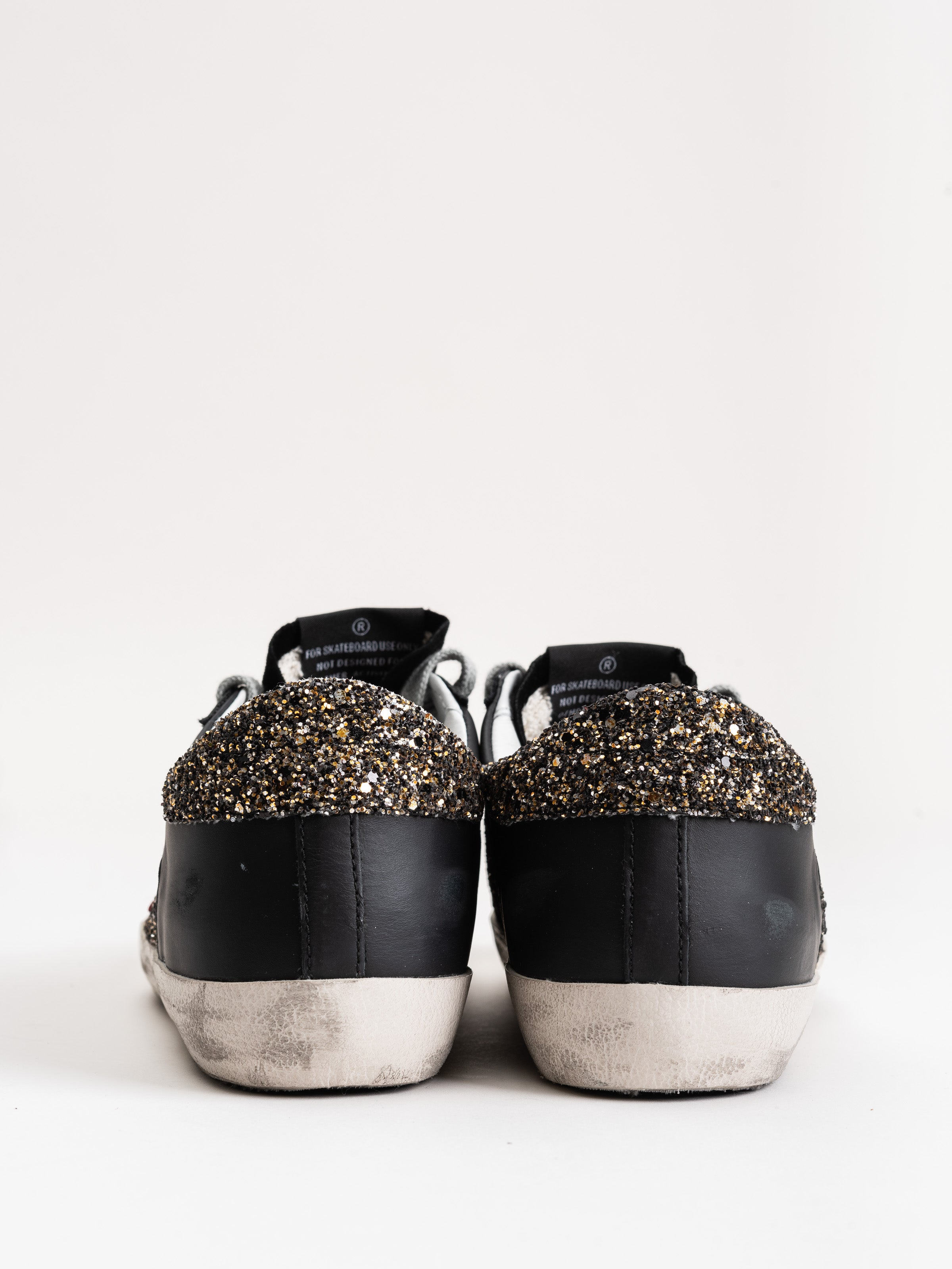 superstar sneakers - silver gold