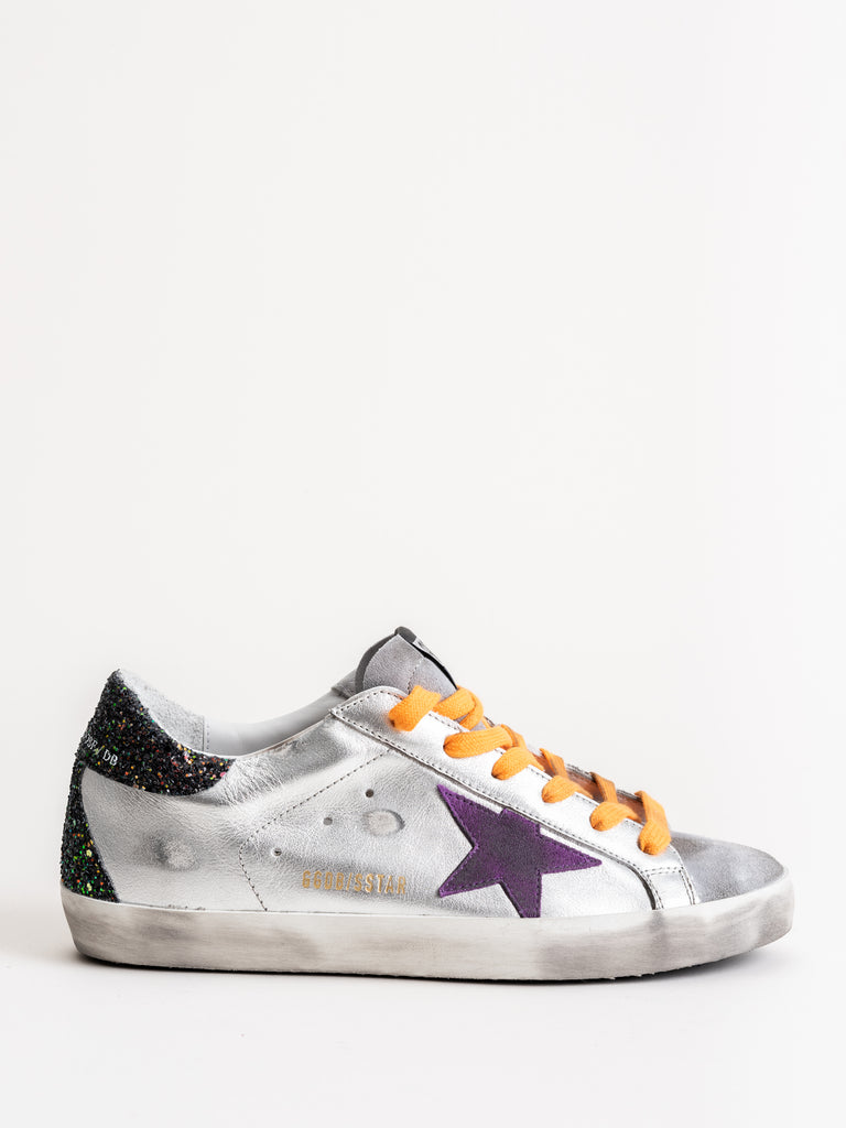 superstar sneakers - silver