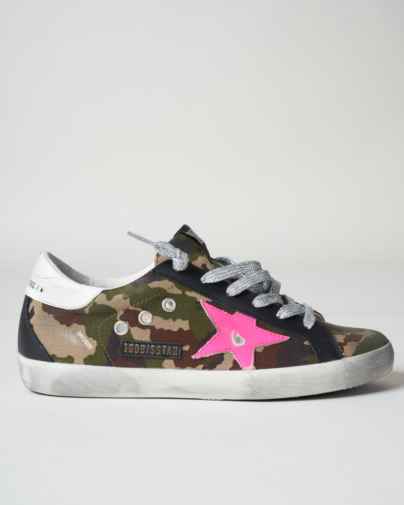 superstar sneaker - green camouflage