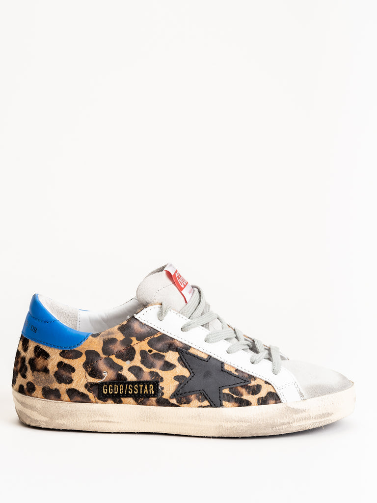 superstar sneaker - snow leopard-royal