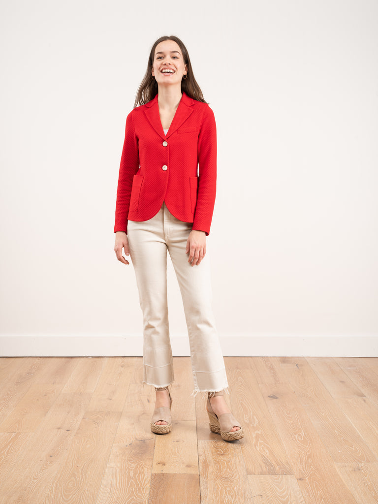boyfriend jacket - red