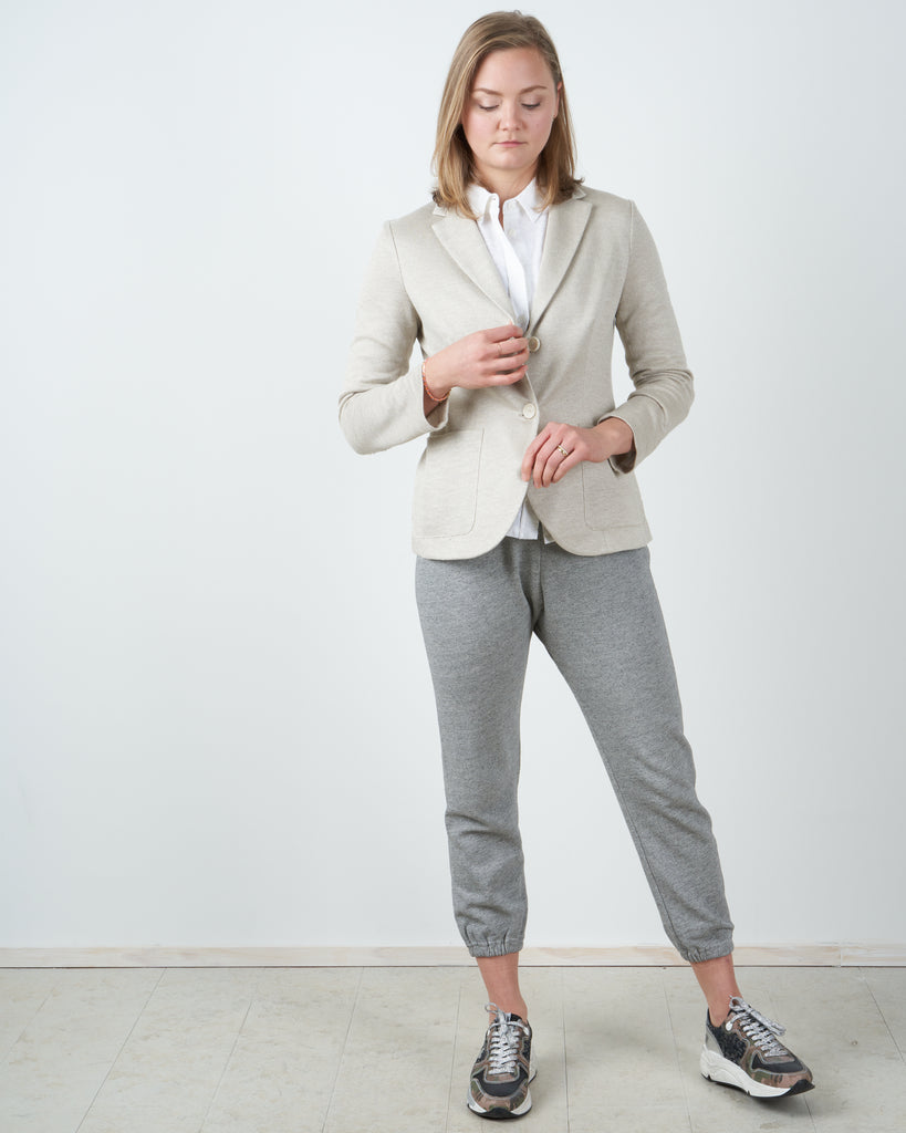 tailored linen blazer - rope