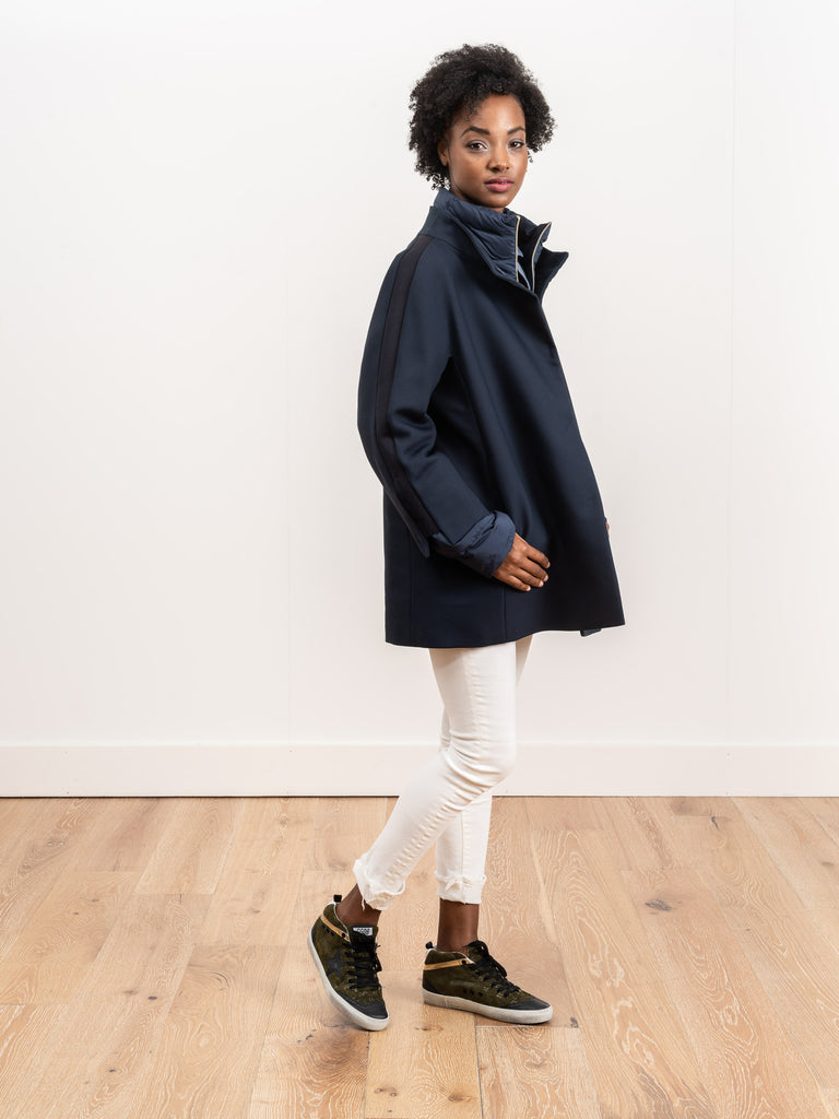 city glam coat - navy