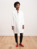 couture shawl collar coat - white