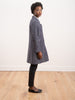 lurex tweed coat - navy