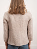 lurex tweed short coat - beige 2000