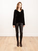 leather legging - black
