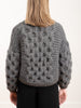 honeycomb bomber - charcoal