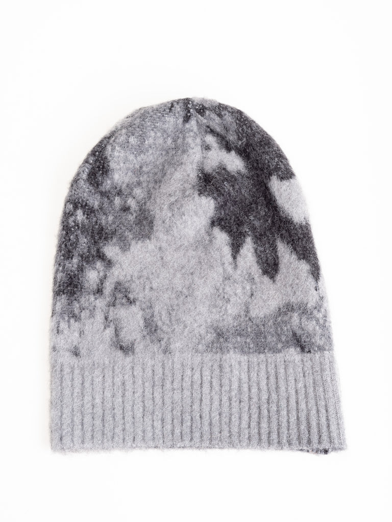 brushed jacquard beanie - ice