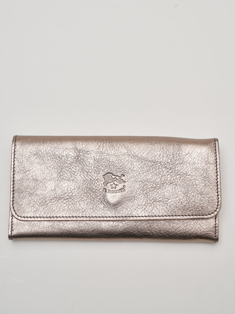 metallic wallet - bronze