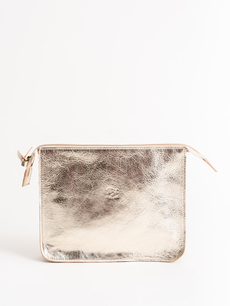 cowhide clutch - platino