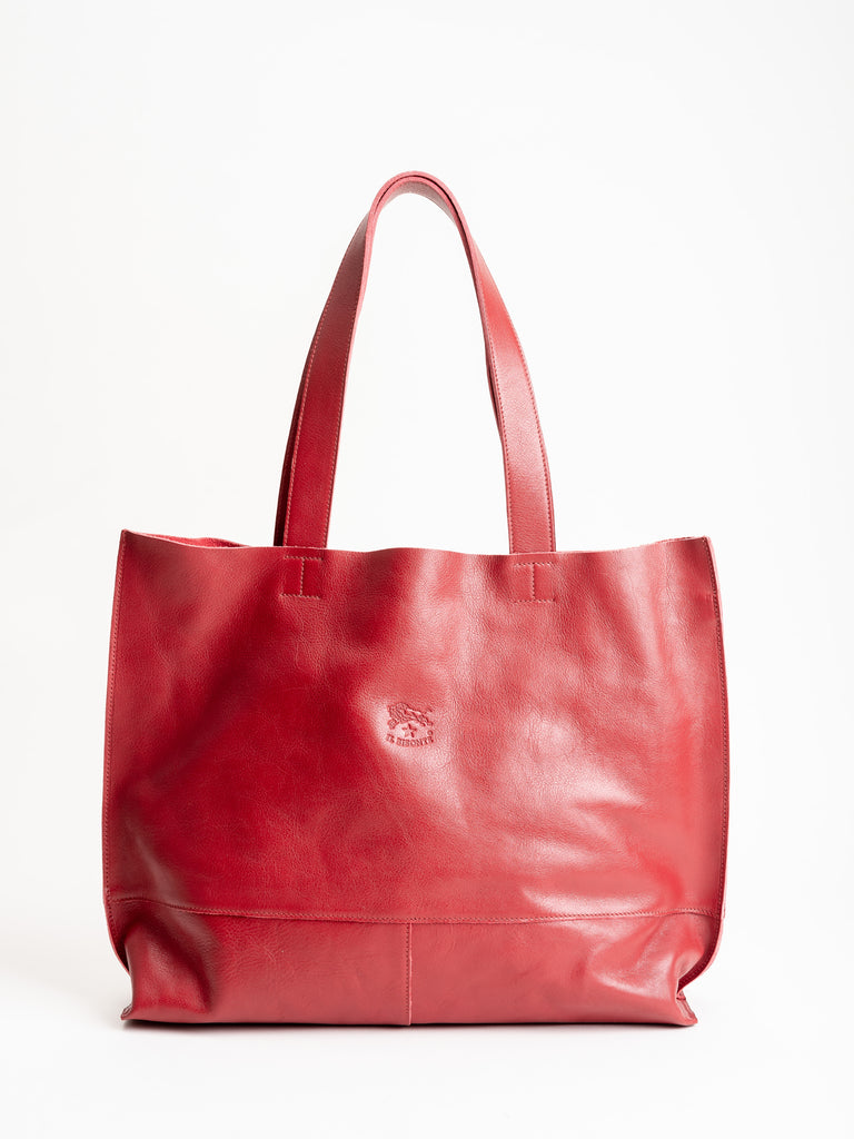 shopping tote - rosso