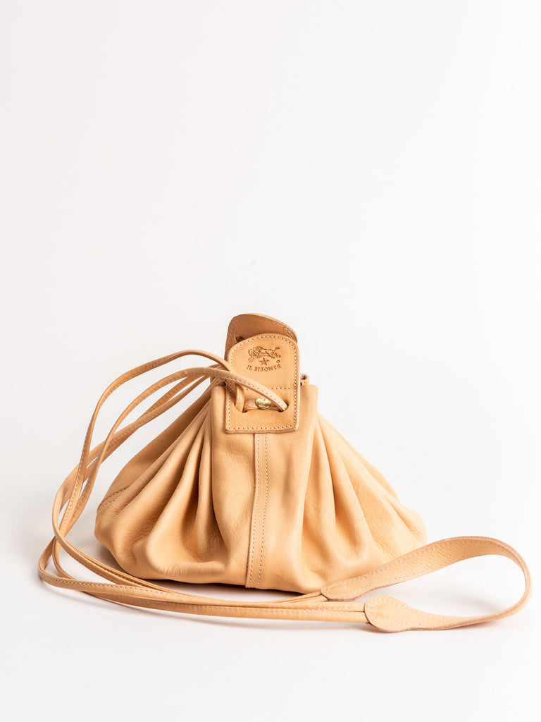 small drawstring pouch - natural