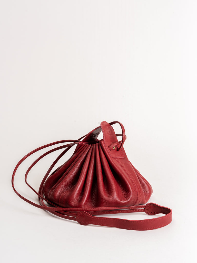 small drawstring pouch - red