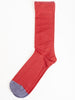 short sock - incarnet red w/ grey toe