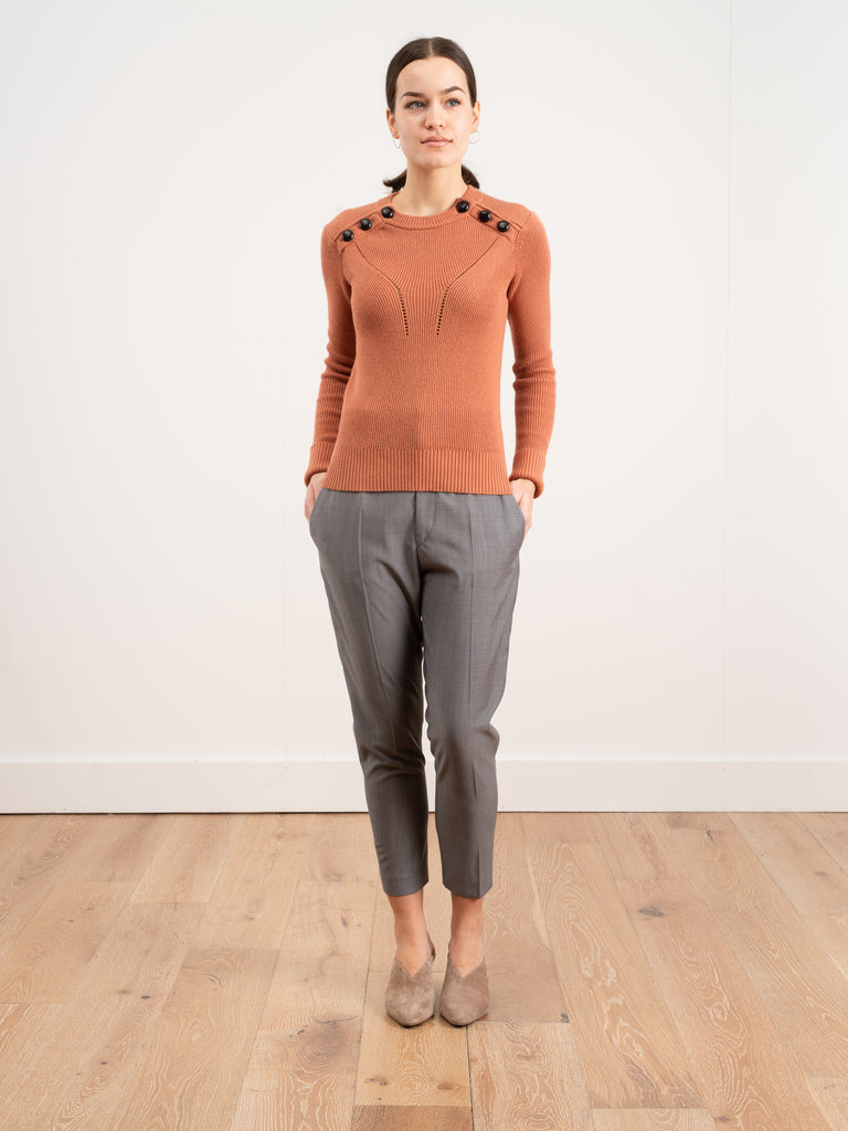 koyla sweater - faded rust