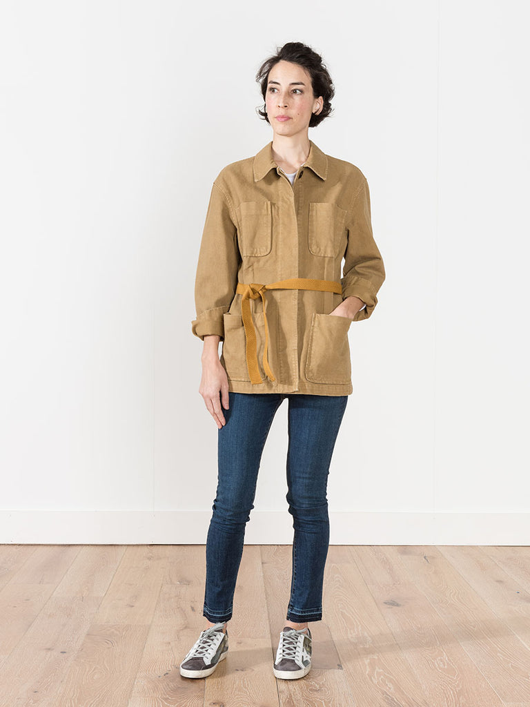 laz trench coat - ochre