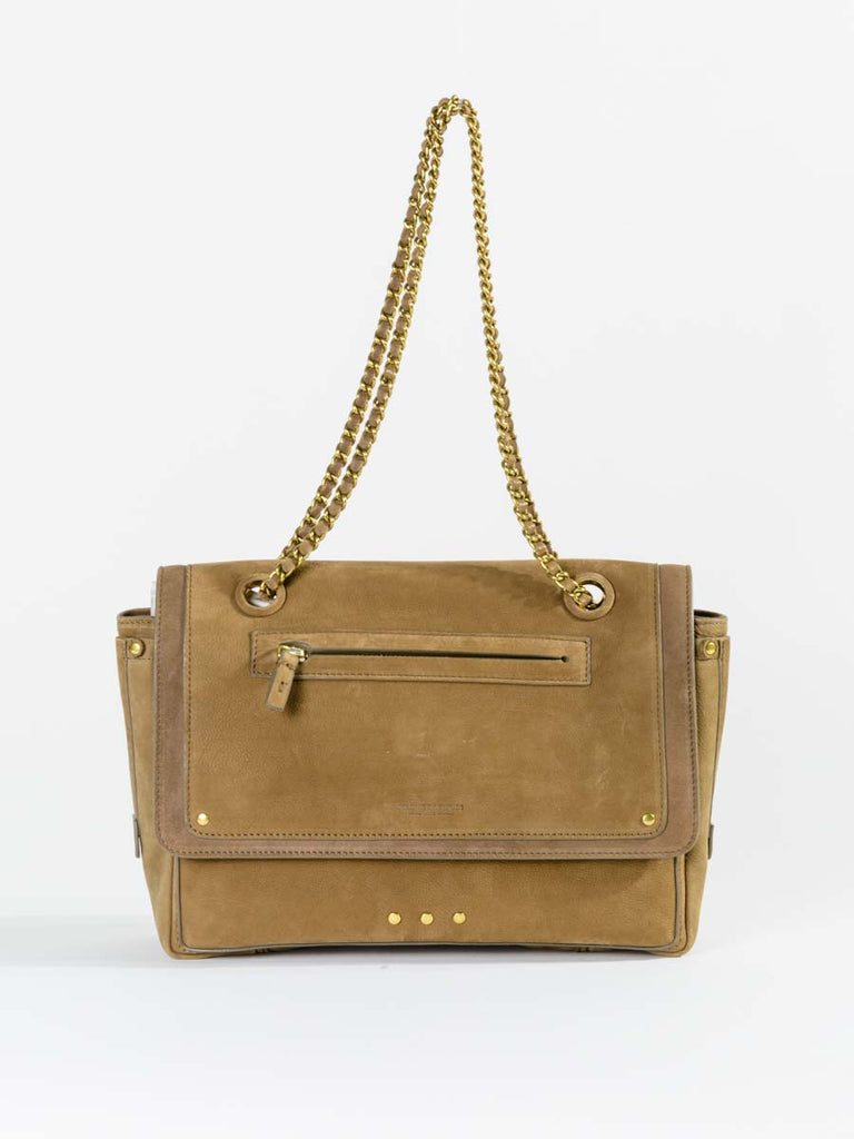Jerome Dreyfuss Benjamin Shoulder Bag in Nubuck Olive