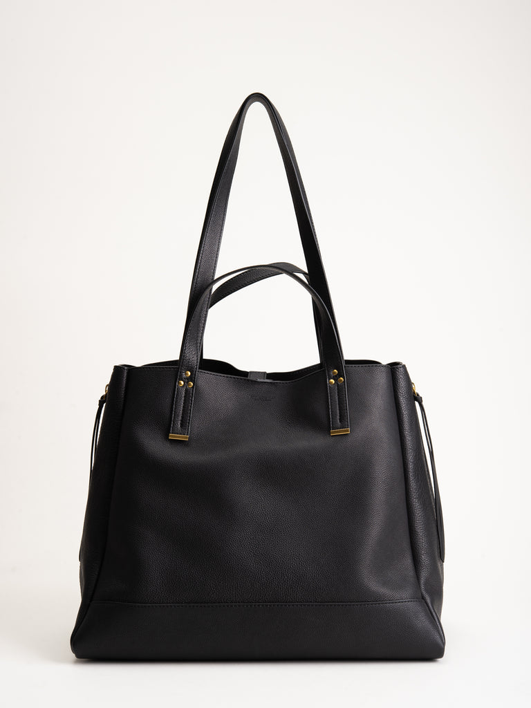 large georges tote - noir brass