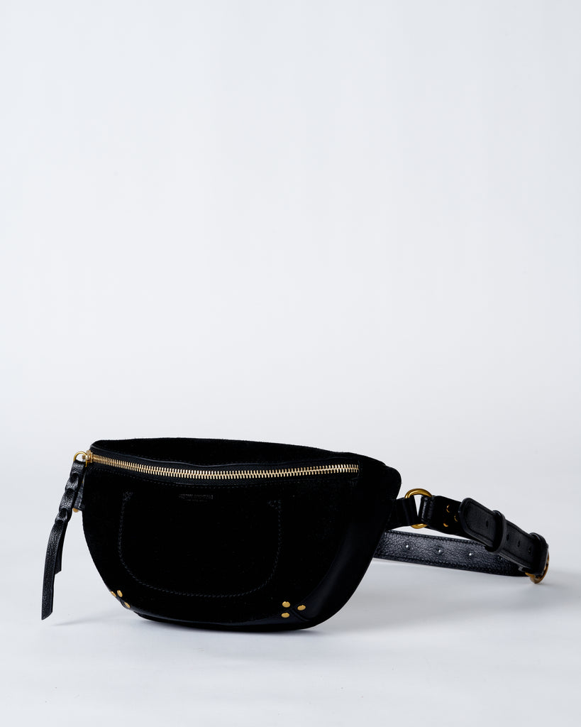 lino banane belt bag - noir graine