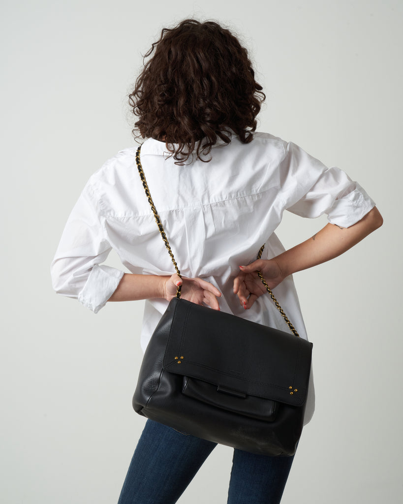 lulu xl shoulder bag - noir brass