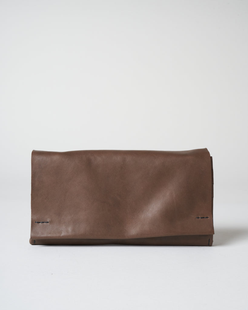 leather bag - grey