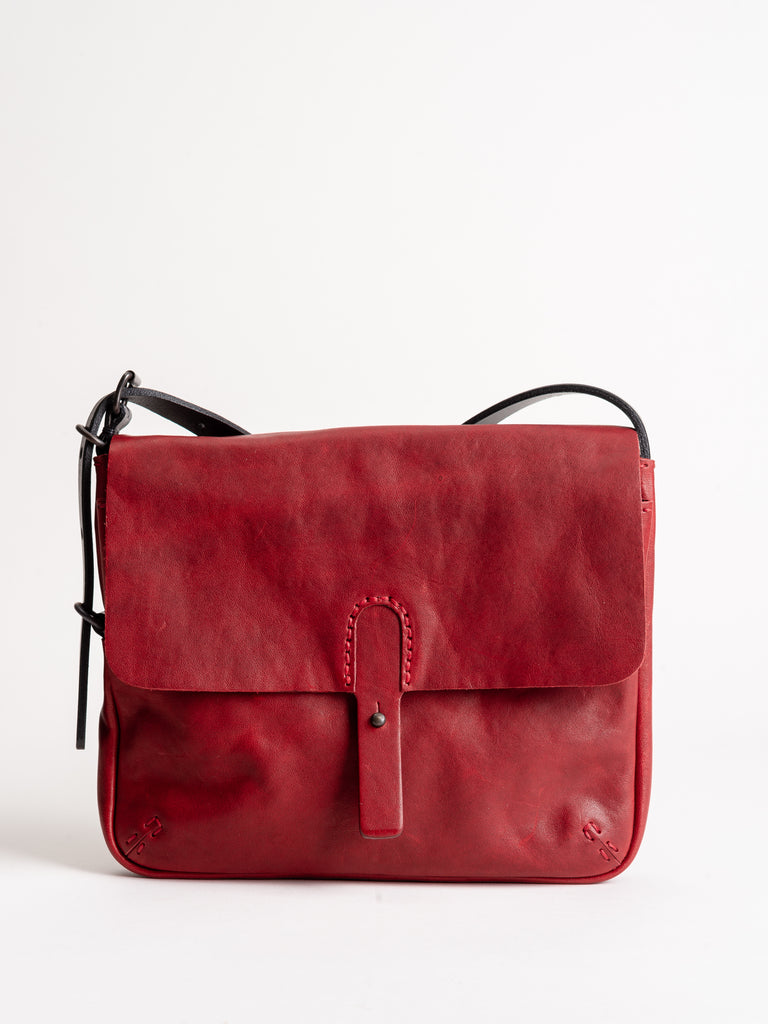 leather bag - red