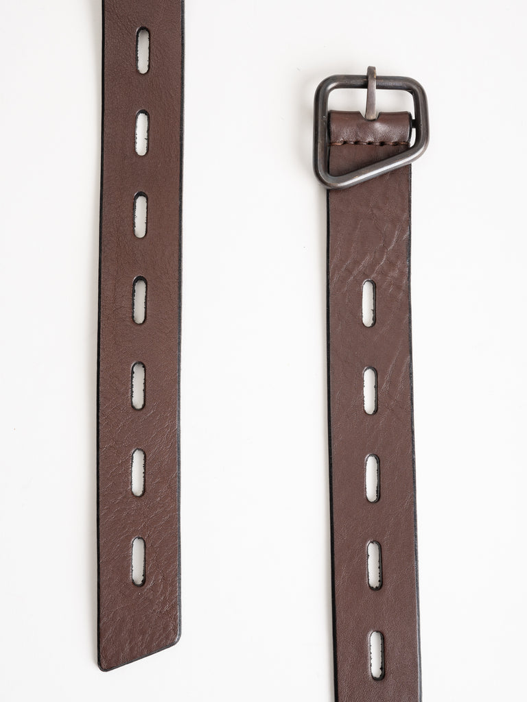 leather belt - brown/ox
