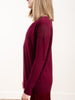 cashmere vee neck - bordeaux