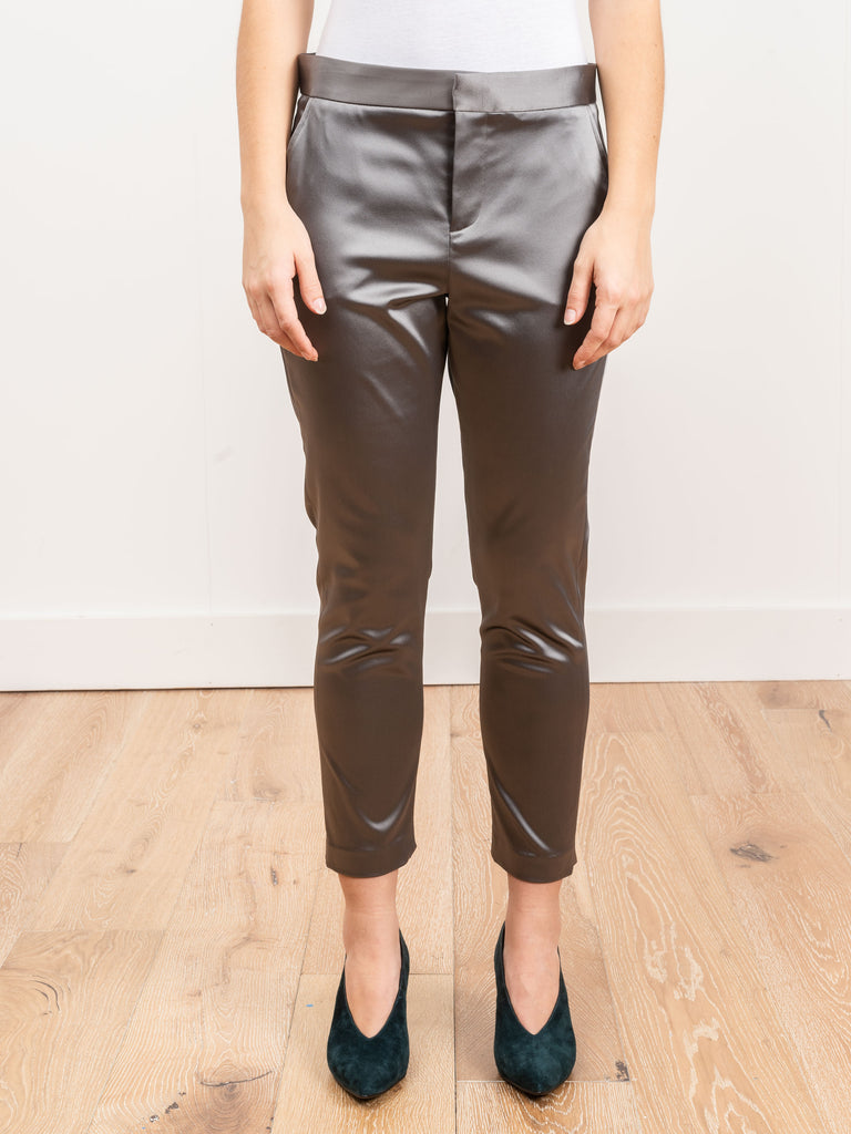 satin cigarette pant