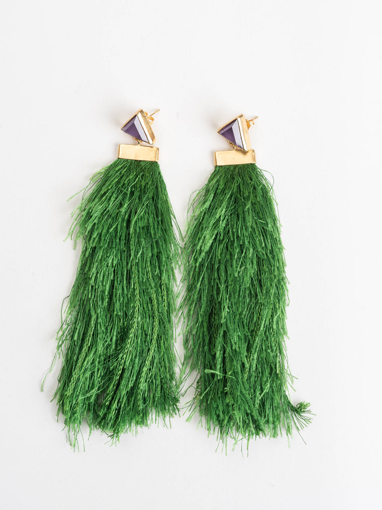 Katerina Makriyianni Green Rain Earrings