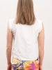 cap sleeve blouse - white