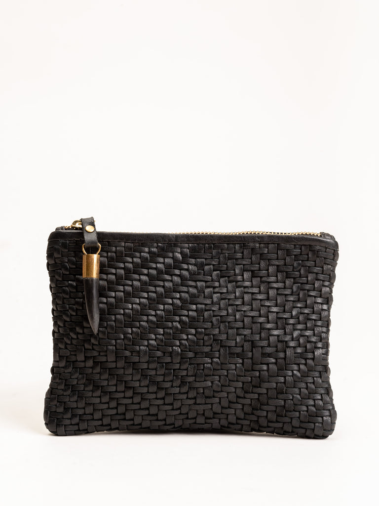 small pouch - black woven