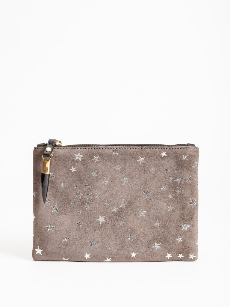 small pouch - taupe star