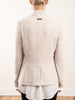 jacket w/ knit sleeves - ivory