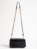 lambskin croco bag - noir