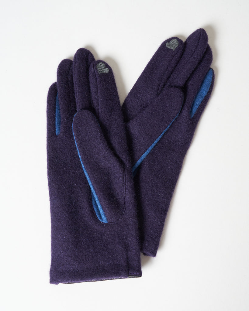 d'annecy cashmere texting gloves - purple