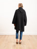 capote coat - black melange