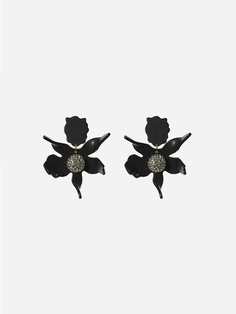 lily earrings - black