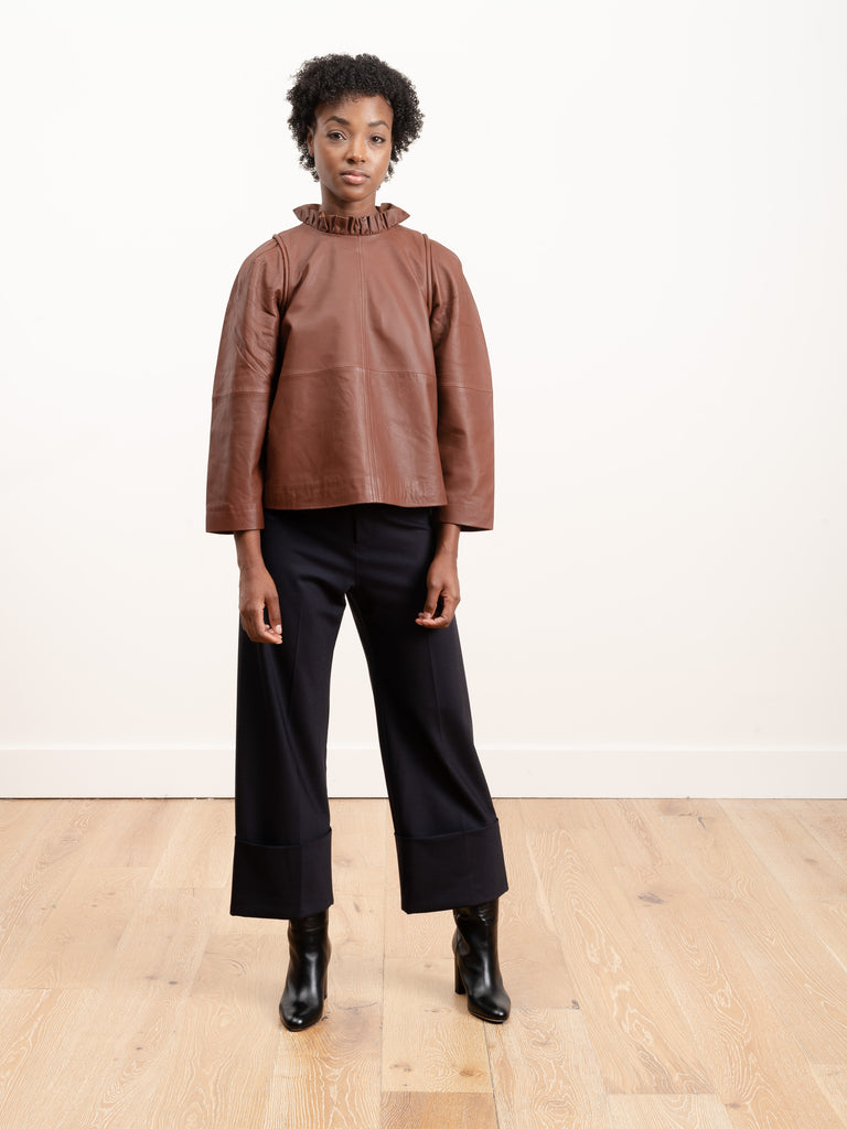 lidia leather top