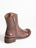 lison double zip boot - cigar