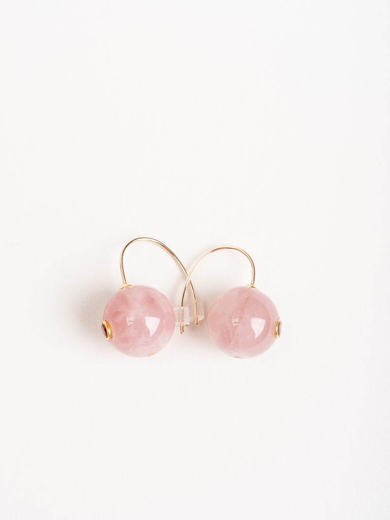 comet earrings - pink