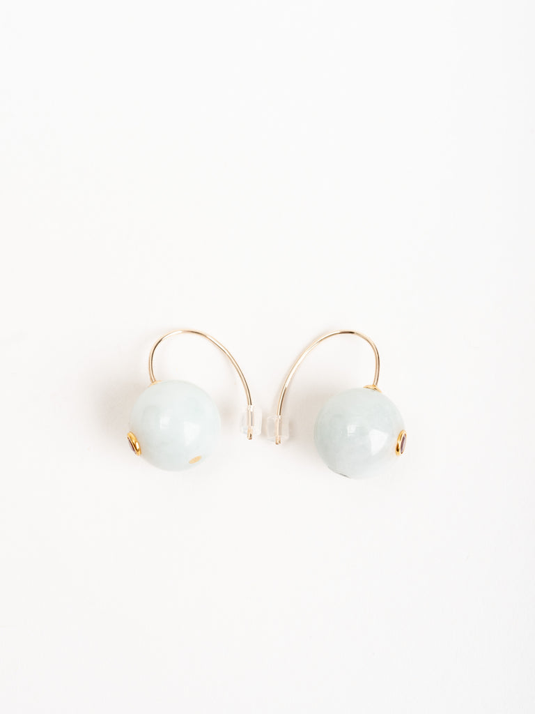 comet earrings - jade