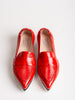 glammy loafer - red patent